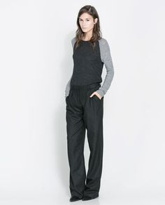 ZARA - WOMAN - SWEATER WITH CONTRASTING SLEEVES