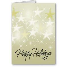 Gold Star Greeting Card