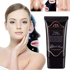 Masque, Noir Masque, Masques Exfoliants et Nettoyants, Visage Masque Femme, Black Mud Mask, Head Acné Remover Masque Deep Cleansing Purifying Peel-off Mask Boue Minérale Nez Nettoyage Masque, Pore Cleanser Masque, Beauté Soin de la peau Blackhead Masque (50ml) | Your #1 Source for Beauty Products