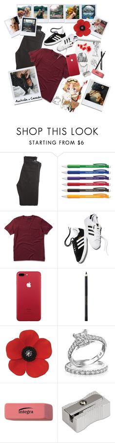 """""""Hetalia : [OC] AustraliaxCanada"""" by fandoms-life ❤ liked on Polyvore featuring Citizens of Humanity, Paper Mate, Dr. Martens, adidas, Max Factor and Bling Jewelry"""