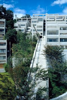 Rokko Housing I, II, III Kobe, Hyogo, Japan 1993 (top) and 1999 (bottom) / Tadao Ando