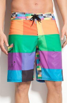 Swim Trunks Boardshorts for Men Fancy Illusion Corn Cute Boy Mens Shorts