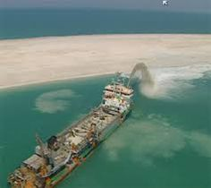 sea dredging _ palm island dubai