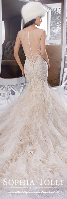 The Sophia Tolli Fall 2015 Wedding Dress Collection - Style No. Y21502 www.sophiatolli.com #weddingdresses #weddinggowns