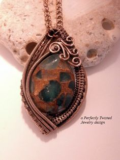 sold! Aqua Golden Quartz Wire Wrap Pendant Necklace by PerfectlyTwisted