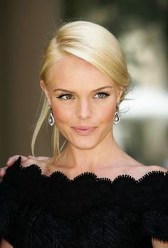 Kate Bosworth - gorgeous pulled back hairstyle. Great for weddings and soirees