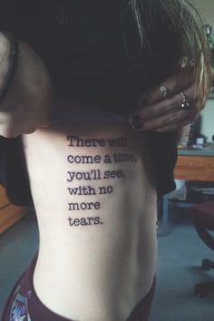 There will come a time,you will see,with no more tears