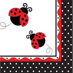3 Ply Lunch Napkins Ladybug Fancy/Case of 192