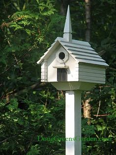 A more formal birdhouse and I love the steeple