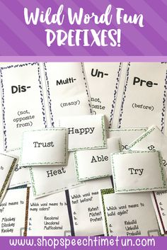 Prefixes card game.