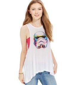 Juniors' Star Wars Storm Trooper Graphic Tank Top from Freeze 24-7  | macys.com Geek Fashion, Fashion Beauty, Clothes To Order, Star Wars Outfits, Star Wars Tshirt, Junior Tops, Geek Chic, Graphic Tank, Freeze