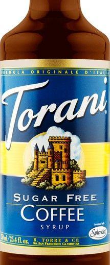 Sugar Free Coffee Torani Syrup