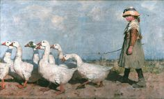 James Guthrie, Ai nuovi pascoli, 1883 olio su tela, 92 x cm, Aberdeen Art Gallery and Museums Collection Painting Prints, Painting & Drawing, Art Prints, Your Paintings, Animal Paintings, Art Canard, Aberdeen Art Gallery, Art Du Cirque, Irish Art