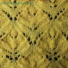 Узор для вязания спицами Ольховые листья