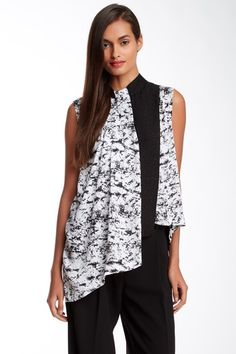 Silk Blend Graphic Print Overlay Blouse by Robert Rodriguez on @HauteLook