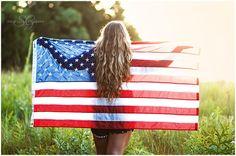 Senior Session | Stacey Gaar Photography, High School senior portrait, American Flag, 4th of July, Senior Portrait Shoot