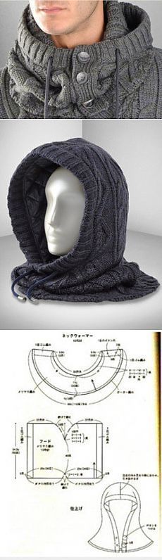 This Pin was discovered by Gen Knitting Stitches, Knitting Patterns Free, Knit Patterns, Hand Knitting, Knitted Hats, Crochet Hats, Crochet Wool, Knit Cowl, Cable Knit
