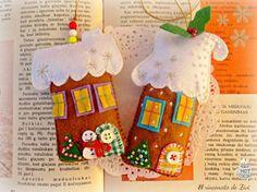 Feltro Pan Di Zenzero Natale Ornamento Casa di elrinconcitodezivi