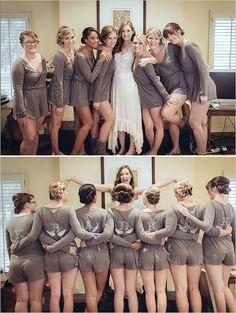 DIY bridesmaid rompers @weddingchicks