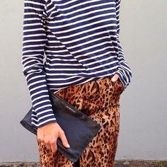 ¡5 ideas de moda y estilo para diciembre!  4.-Combina rayas con animal print. En general, la combinación de estampados se ve...