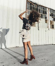 Shoes: tumblr ankle boots boots mid heel boots pointed boots skirt mini skirt white skirt t-shirt