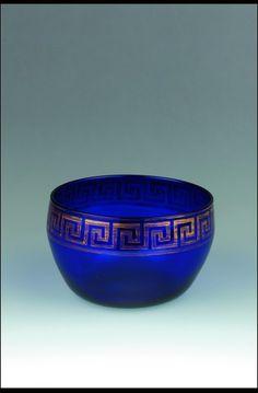 6 Bristol Blue Fruit//Serving Bowl Nazeing Glass