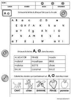Letter O Worksheets, French Worksheets, Montessori, French Language Lessons, French Education, Numbers Preschool, Preschool Education, Kindergarten Lessons, Baby Learning
