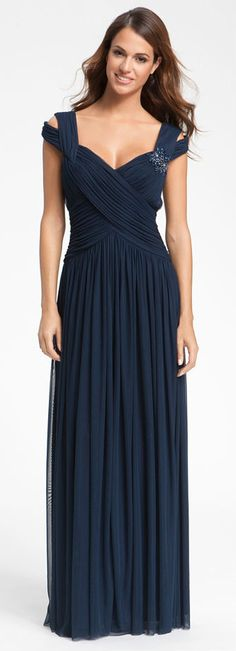 Gown Dress Navy Blue