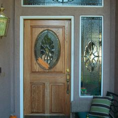 Exterior Wooden Doors Stained Glass