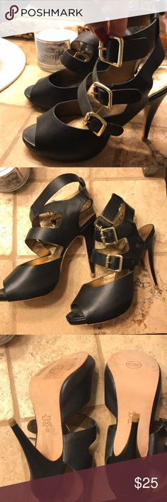 Black Heels These heels are very nice with gold buckles. Cynthia Vincent Shoes Heels
