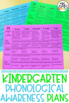Not sure how to plan for phonological awareness activities in your elementary classroom? This post has you covered. These kindergarten phonological awareness plans have a daily outline of phonological awareness activities to do with your class.