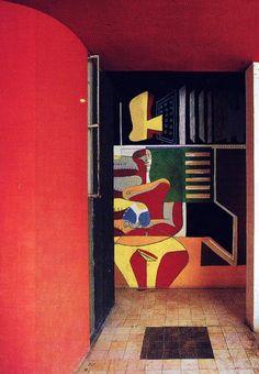 Eileen Gray - Villa E 1027 - Le Corbusier aimait y Séjourner et Réalisait régulièrement des Fresques Murales pour ses Amis et Hôtes.