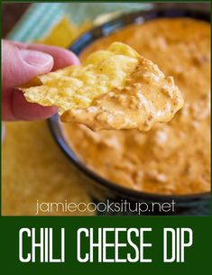 Chili Cheese Dip from Jamie Cooks It Up!