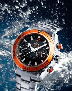 Omega Planet Ocean Chrono Orange