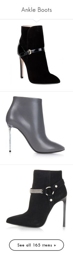"""Ankle Boots"" by miriam83 ❤ liked on Polyvore featuring shoes, boots, ankle booties, heels, ankle boots, booties, black, high heel ankle boots, black heeled booties and high heel booties"