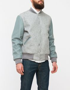 LEATHER/WOOL HEATHER GREY Odd Fellow Company for Draught Dry Goods