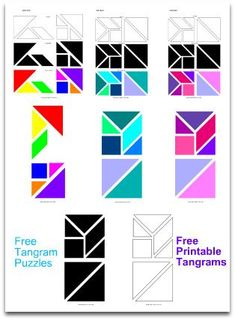 Tangrams | Activities | Shapes | Designs | Solutions and Templates