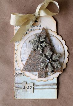 Christmas scrapbook idea: tree tag
