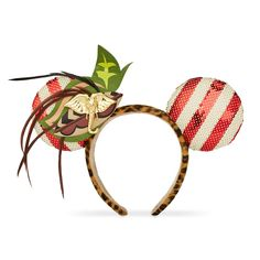 Embark on safari with fashion icon Minnie Mouse and our monthly, limited release series of themed ear headbands. Each release honors a different, beloved Disney Theme Park attraction. This month, travel on a Jungle Cruise in these adventuresome ears.