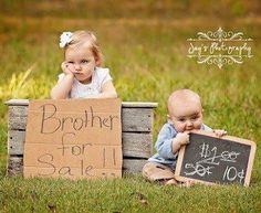 Brother and Sister picture idea. Just in case we have a boy.