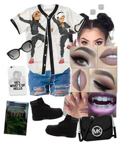 Milly Rock by arikaijones on Polyvore featuring polyvore, мода, style, MICHAEL Michael Kors, Bloomingdale's, Burberry, Timberland, fashion and clothing