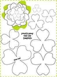 Felt Flower Patterns - Bing Imágenes