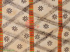 Adinkra Stamped Cloth Asante Ghana Large Africa 11 x 6 Feet - African Textiles