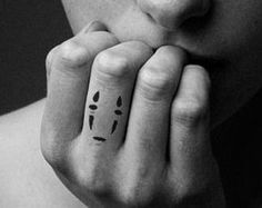 no face finger tattoo - Google Search