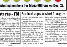 if i die - the digital afterlife facebook app on the New York Daily News.