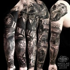 A full sleeve by Nikolas...