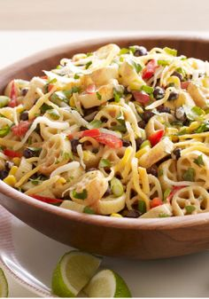 Mexicali Pasta Salad – Who needs a mariachi band? Fresh cilantro and lime juice make this smart taco-inspired pasta salad sing out loud with tangy flavor.
