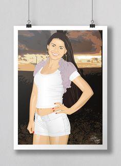 Trabalho desenvolvido em 2010. Para o criação dos desenhos foi usada uma fotografia como referência e a utilização de um software gráfico vetorial.