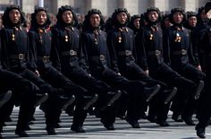 Soldiers march in a military parade in Pyongyang, on April 15, 2012. (Ed Jones/AFP/Getty Images)