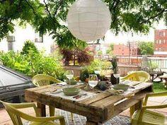 mesa para el jardín, reciclando tarimas